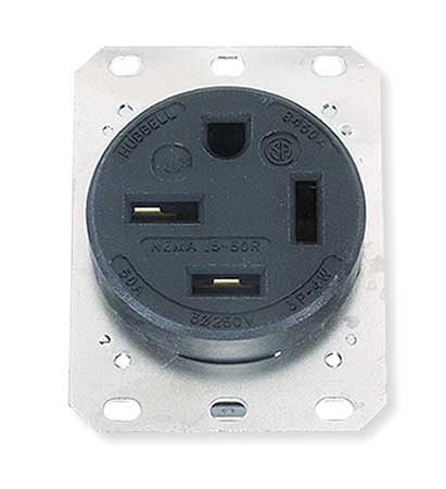 50A 4W Single Receptacle 250VAC 15-50R BK