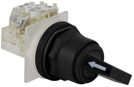 Non-Illum Selector Switch, Momentary, 30mm