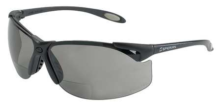 Bifocal Safety Read Glasses, +2.00, Gray