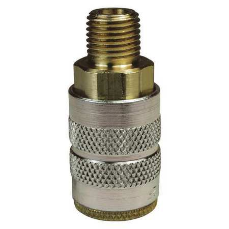 Male to Industrial Coupler, 1/4, Brass