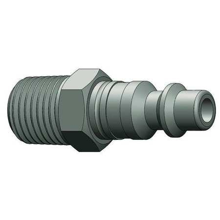 Male to Industrial Plug, (M)NPT, 1/4, Brass