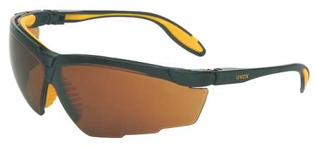Honeywell Espresso Safety Glasses,  Scratch-Resistant,  Wraparound