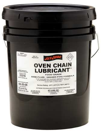 Oven Chain Lubricant, 5 Gal Pail, NSF-H1