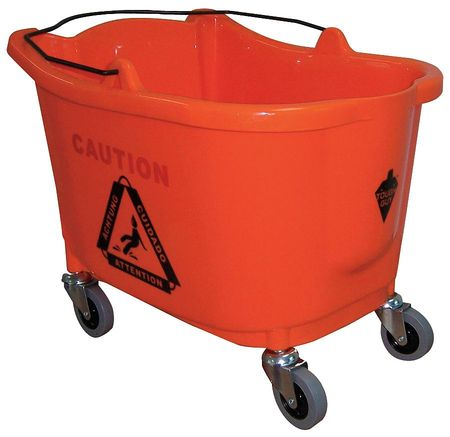 Mop Bucket, 8-3/4 gal., Orange
