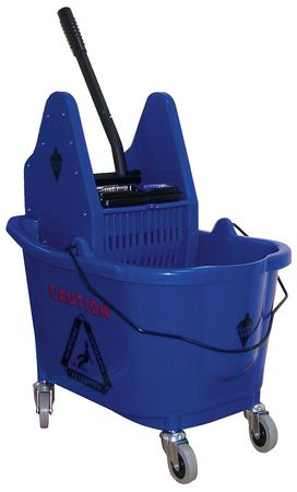 Mop Bucket and Wringer, 8-3/4 gal., Blue