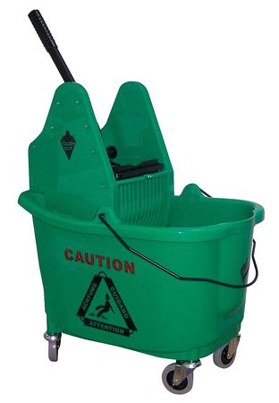 Mop Bucket and Wringer, 8-3/4 gal., Green