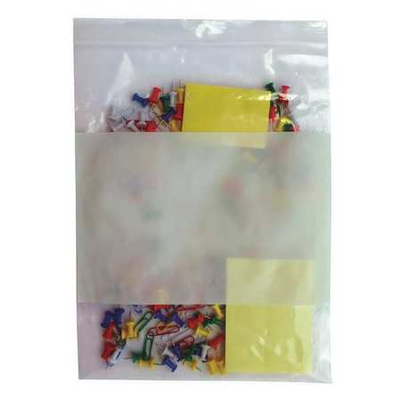 "Zipper Seal Reclosable Bag 12"" x 9"",  4 mil,  Clear,  Pk1000"