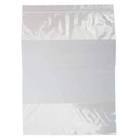 "Zipper Seal Reclosable Bag 10"" x 8"",  2 mil,  Clear,  Pk1000"