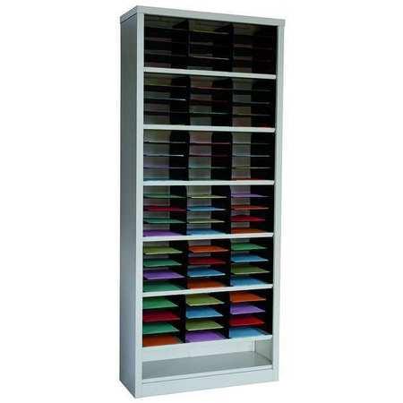 Vertical Literature Organizer 72 Compartments,  Tan