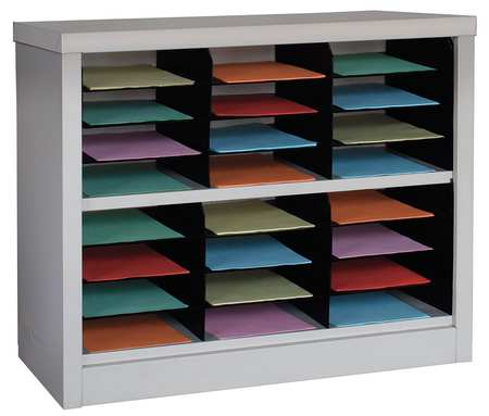 Horizontal Literature Organizer 24 Compartments,  Tan