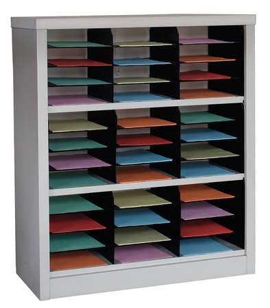 Horizontal Literature Organizer 36 Compartments,  Tan