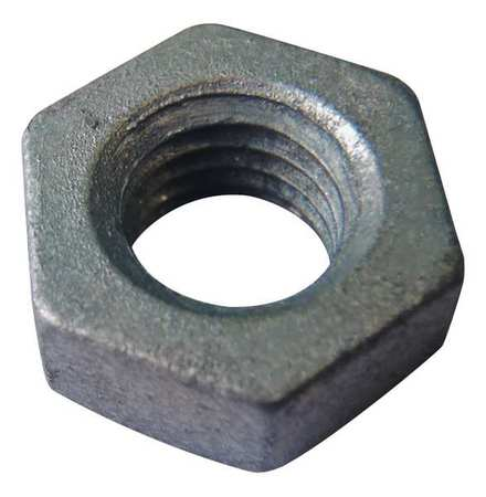 "5/8""-11 Grade 2H Hot Dip Galvanized Finish Carbon Steel Heavy Hex Nuts,  25 pk."