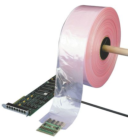 "4 mil Antistatic Poly Tubing,  9""W x 1075 ft."