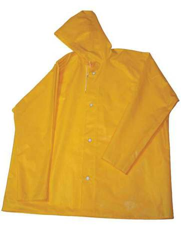 Rain Jacket with Hood, Gold, 2XL