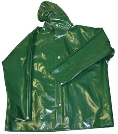 Rain Jacket with Hood, Green, 2XL