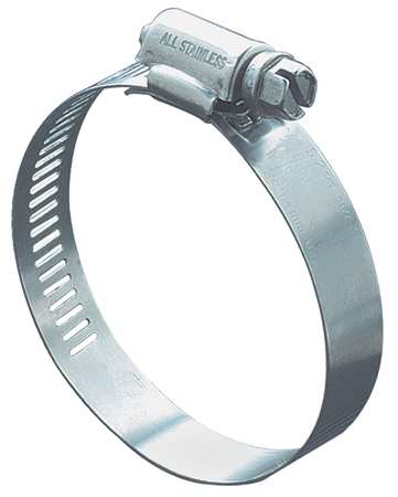 Hose Clamp, 1 to 2 In, SAE 24, SS, PK10