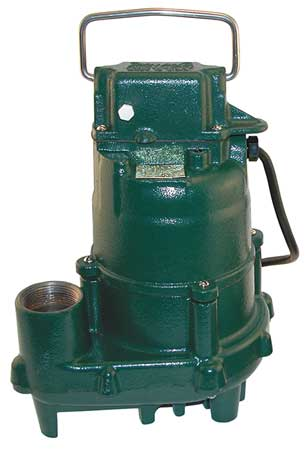 Submersible Effluent Pump, 1/2hp, 10.5A