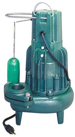 "1 HP 2"" Auto Submersible Sewage Pump 230V Vertical"