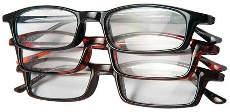 Reading Glasses, +2.5, Clear, Acrylic, PK3