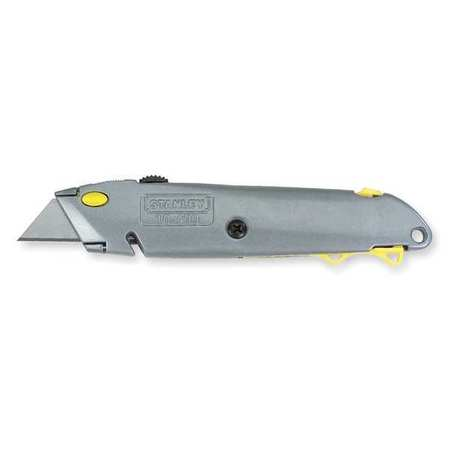 Utility Knife, 6-3/8 In., Gray