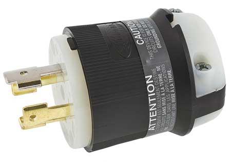 30A Locking Plug 4P 4W 120/208VAC L18-30P BK/WT