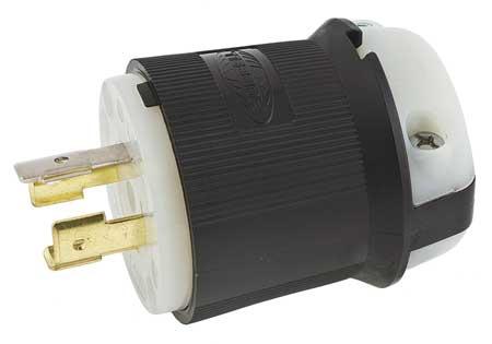 20A Locking Plug 4P 4W 120/208VAC L18-20P BK/WT