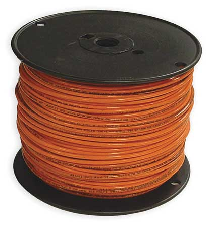 Building Wire, THHN, 14 AWG, Orange, 500ft