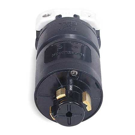 30/20A Locking Plug 3P 4W 600VAC/250VDC BK
