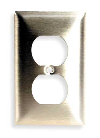 Duplex Wall Plate, 1 Gang, Brass