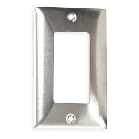 Rocker Wall Plate, 1 Gang, Silver