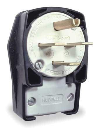 Angle Plug, 15-30P, 30A, 250VAC 3 Phase
