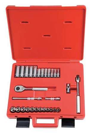 "Socket Wrench Set, Metric, 3/8"" Dr, 29 pc"