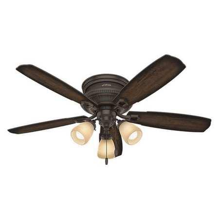 Hunter Ambrose Fan 52 Quot Onyx Bengal 3 Light Kit 53356