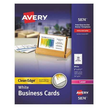 Avery Printable Business Cards 2 Sided PK1000 5874