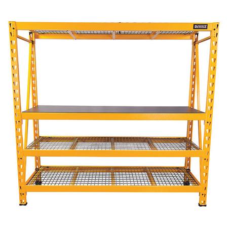 Industrial Storage Rack, 4 Shelf, 6 ft