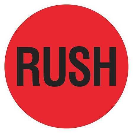 tape logic shipping label rush 2 x2 red black pk500 dl1740