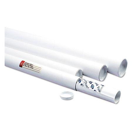 """51EN07 Mailer, Tube, 3""""X36"""", White, PK25"""
