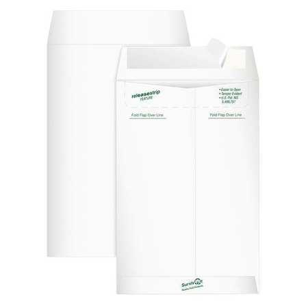 51UF05 Tyvek Mailer, Side Seam, 6x9, White, PK20