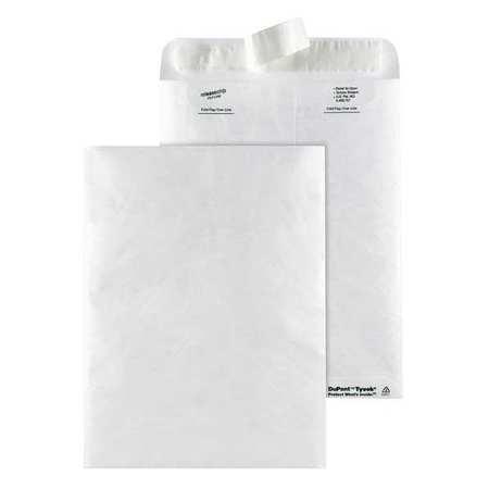 51UF10 Tyvek Mailer, Side Seam, 9x12, White, PK50