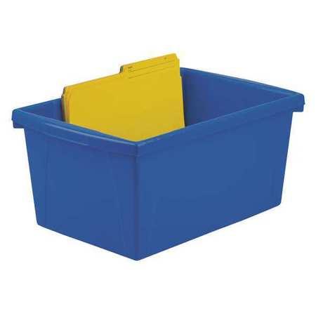 Charmant Storage Bins, 5.5gal., Color, Plastic