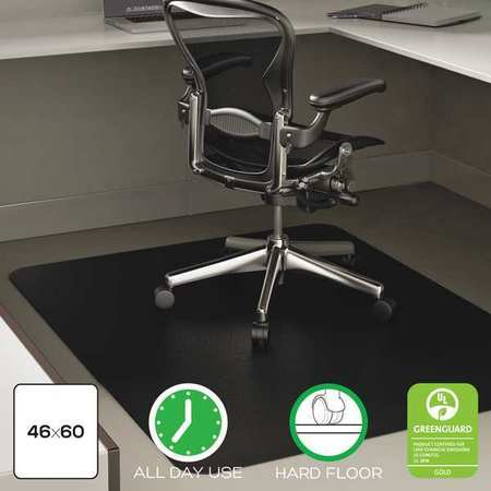 Chair Mat 45 X53 Rectangular Shape Black