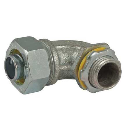 Noninsulated Connector, 1/2 In., 90 Deg