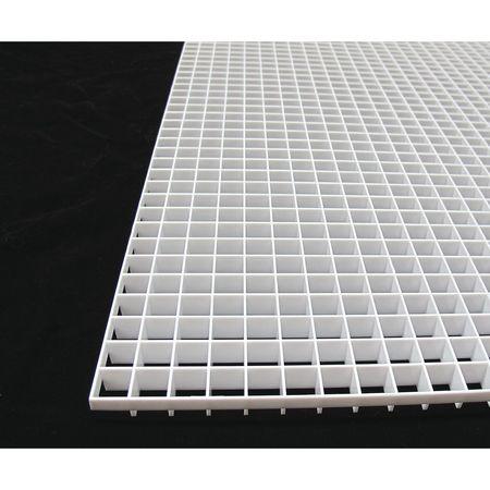 american louver eggcrate panel plastic white pk2 tc 24 2448 2pk