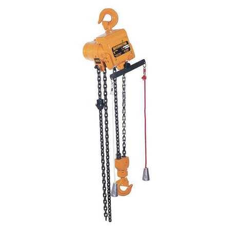 Air Chain Hoist, 250 lb. Cap., 15 ft. Lift