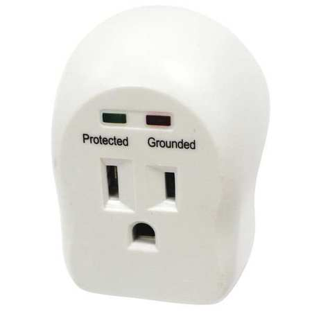 Single Receptacle Plate,1 Gang,White HUBBELL WIRING DEVICE-KELLEMS NP720W