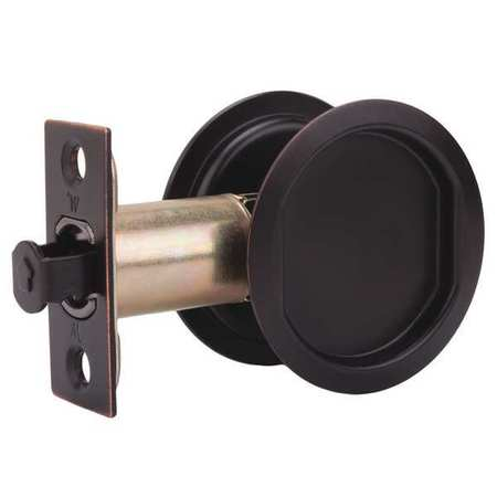 Pocket Door Lock, Steel, Brown