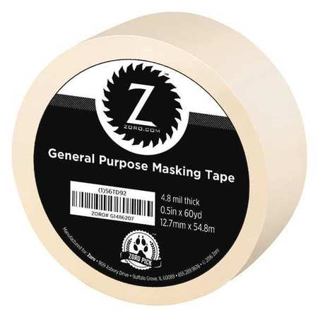 "Masking Tape, General Purpose 1/2""x60 yd."