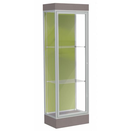 Lighted Floor Display Case 24x76x20 6 Base