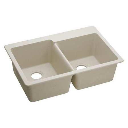 Sink Quartz, 2 Bowls 33x22 Bisque