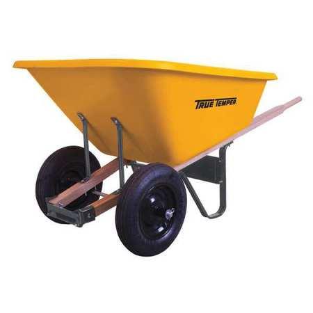 Poly Wheelbarrow, Dual Wheels, 8cu. Ft.